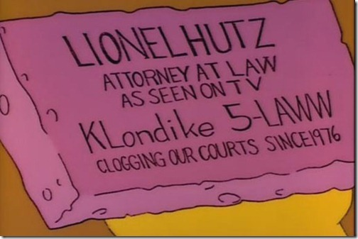 Lionel Hutz Attorney at Law Business Card (The Simpsons)